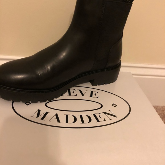 9489cb7408f201 Steve Madden Gliding Black Leather